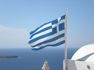 griechenland-santorini-flagge