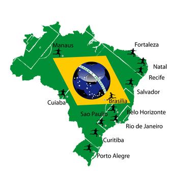 Spielorte Fussball WM2014 Brasilien